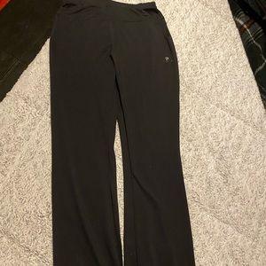 Boot cut yoga pants.